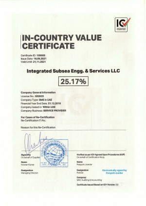 IN-COUNTRY VALUE